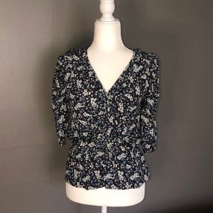 Chelsea and violet floral peplum Blouse size s